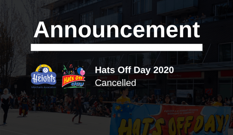 Burnaby Heights to cancel this year's Hats Off Day