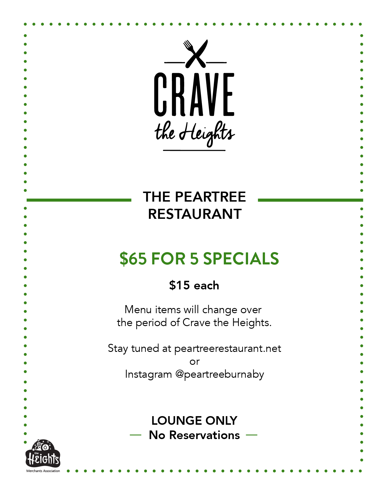 The PearTree Menu