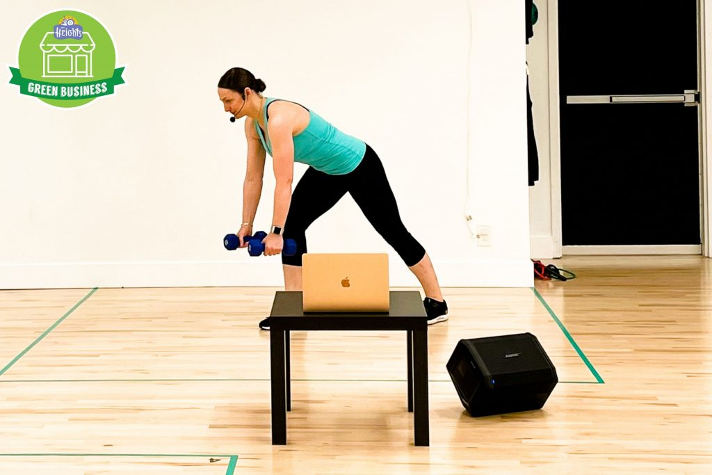 Online exercise class at The Beat Studio