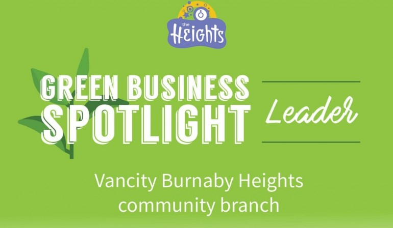 Finance has never been more green, than at Vancity's Burnaby Heights branch